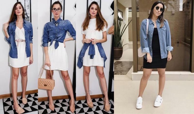 post blog dicas de como usar vestido com camisa jeans